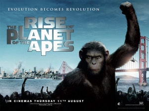 Rise Of The Planet Of The Apes Quad Poster