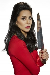 Emily with knife