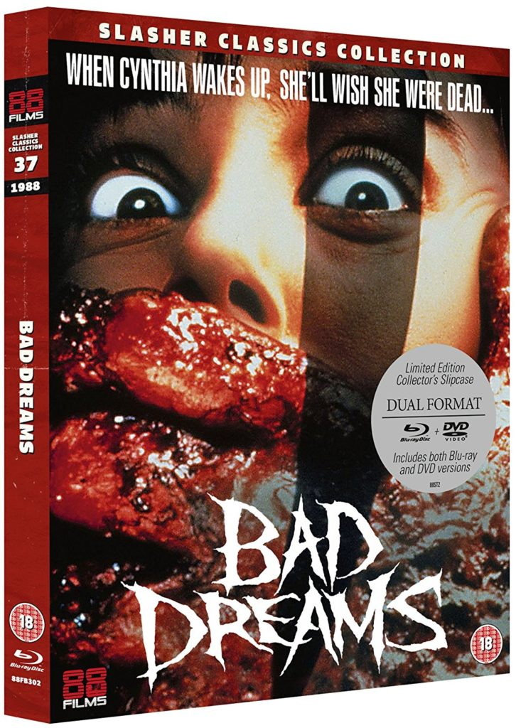 Bad Dreams Blu-ray cover from 88 Films