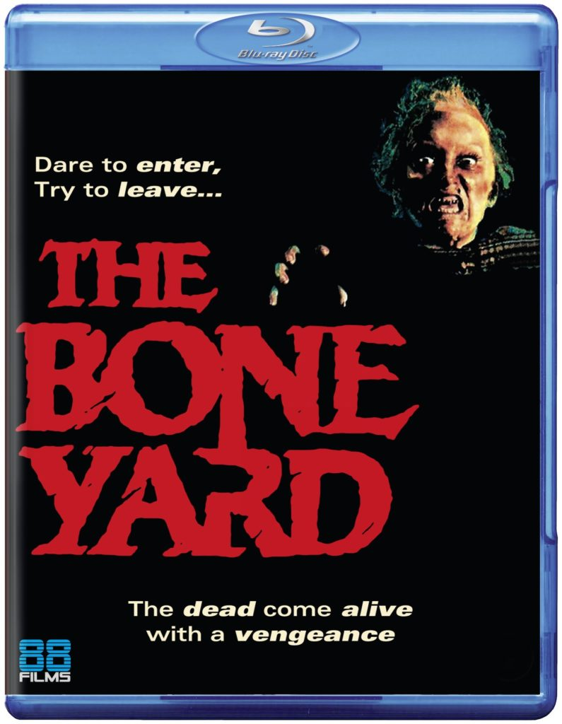 Cover for The Boneyard Bluray from 88 Films