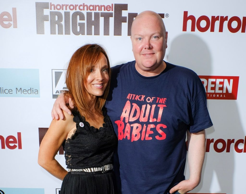 Dominic Brunt and Joanne Mitchell