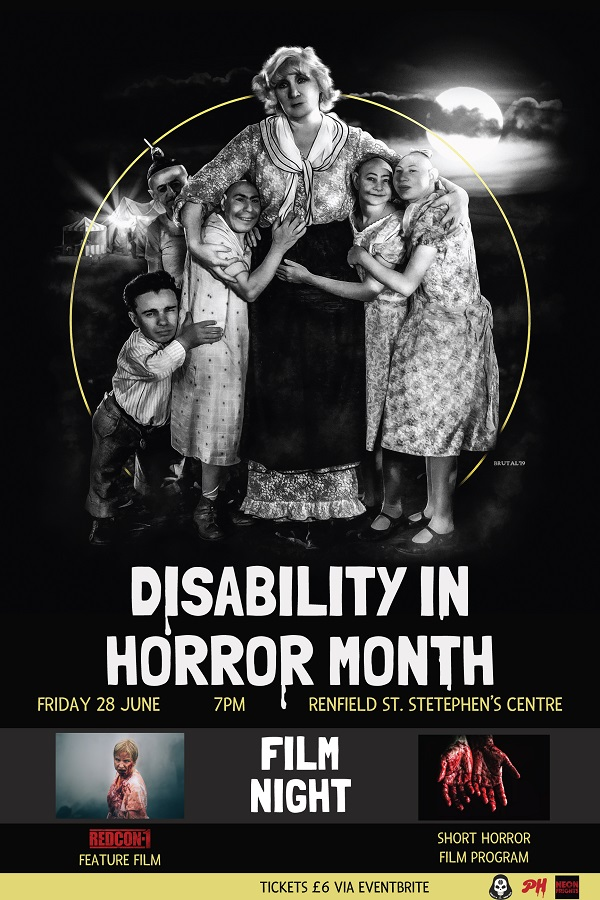 Disability in Horror Month 2019 Poster