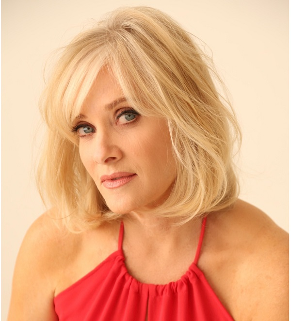 Barbara Crampton Red Dress
